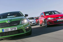 Golf, Octavia, A3, Leon: Test