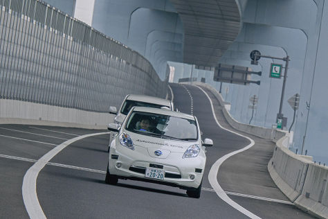 Nissan Leaf fährt in Japan autonom