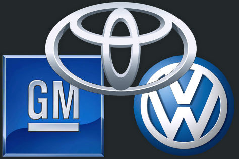 Logos Toyota, VW, GM
