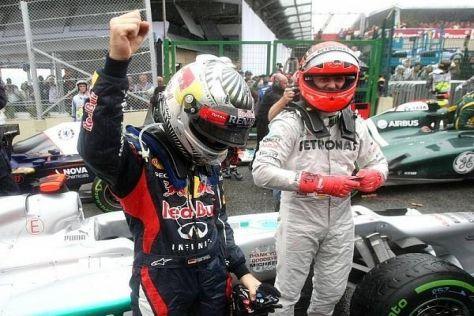 """Vor gut einem Jahr fuhren Vettel und """"Schumi"""" ihr letztes gemeinsames Rennen"""