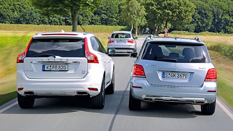 BMW X3/Mercedes GLK/Volvo XC60: Test