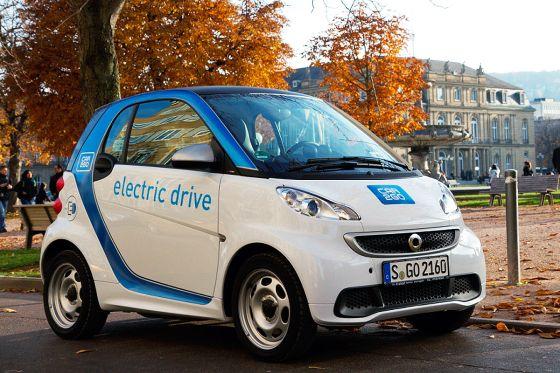 Smart fortwo mit Elektroantrieb