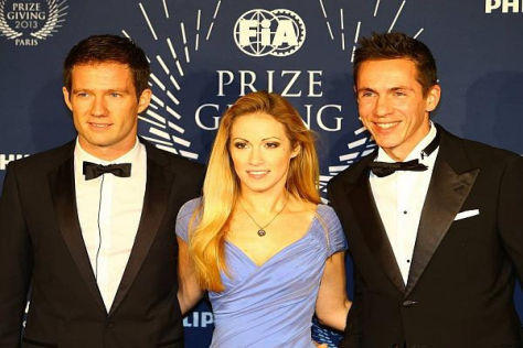 Sebastien Ogier hatte neben seinem Co-Pilot auch Freundin Andrea Kaiser im Gepäck
