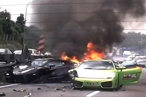 Lamborghini-Crash in Malaysia