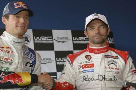 Sebastien Ogier und sein WM-Vorgänger in der Rallye-WM, Sebastien Loeb