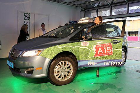 E-Taxi von BYD bei der Präsentation