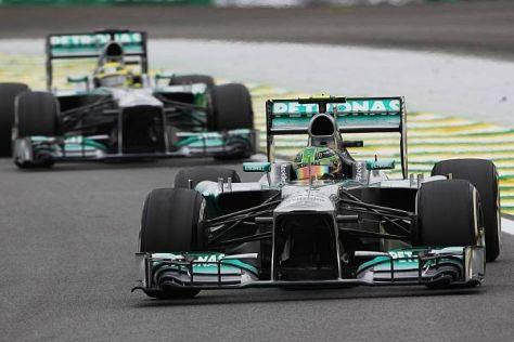 Lewis Hamilton konnte Nico Rosberg in seiner ersten Mercedes-Saison schlagen