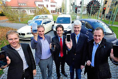 Benedikt Jäger (TUM), Florian Bachmann (Taxiverband), Gunnar Heipp (SWM/MVG), Dr. Jürgen Gaulke (Bundeswirtschaftsministerium), Dr. Wolfgang Christl (Handwerkskammer) TU München