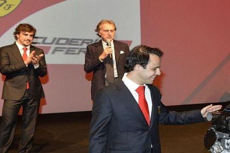 Felipe Massa bedankt sich beim Weihnachtslunch bei seiner Scuderia