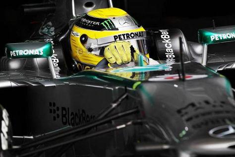 Dreher bei voller Geschwindigkeit: Nico Rosberg hat nun Säuberungsbedarf...