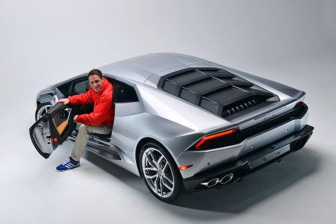 Stefan Voswinkel im Lamborghini Huracan