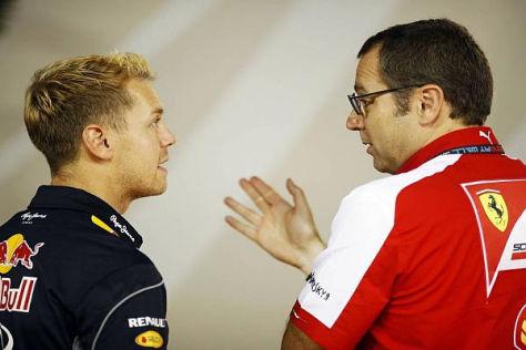 Sebastian Vettel und Stefano Domenicali werden vorerst weiter privat reden müssen