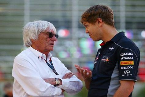 Bernie Ecclestone und Sebastian Vettel verstehen sich durchaus gut