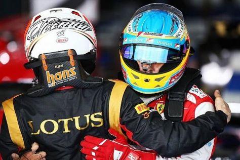 Fernando Alonso und Kimi Räikkönen werden 2014 beide rote Overalls tragen