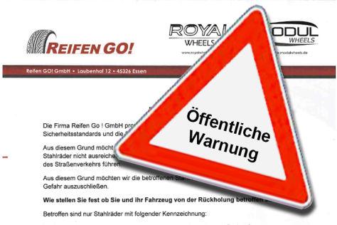 Bild Öffentliche Warnung