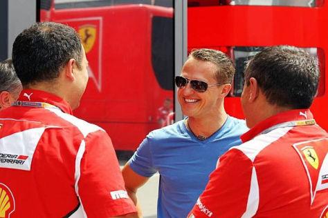 Schumacher ist im Kreis der Ferrari-Familie noch immer gerne gesehen