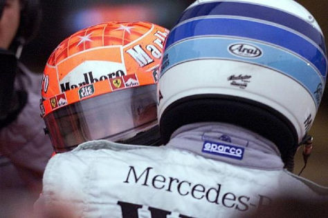 Michael Schumacher und Mika Häkkinen haben sich stets respektiert