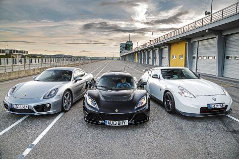 Porsche Cayman S Lotus Exige S Nissan 370 Z Nismo