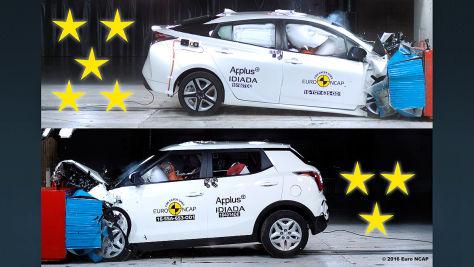 Euro NCAP-Crashtest 2016: Gewinner und Verlierer