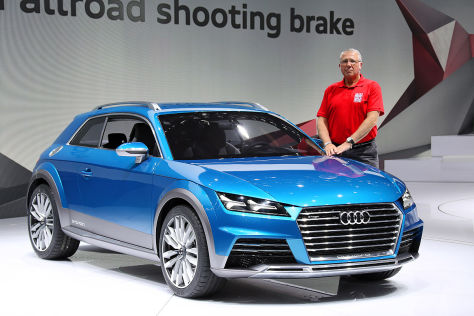 Audi Allroad Shooting Brake Concept: Sitzprobe in Detroit 2014