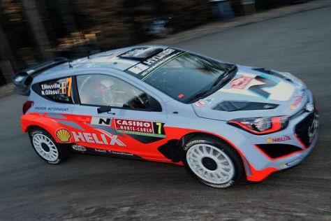 Thierry Neuville flog schon auf der ersten WP der Rallye Monte Carlo ab
