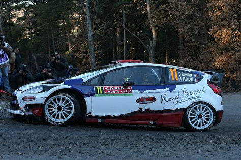 Bryan Bouffier war am ersten Tag der Rallye Monte Carlo der Schnellste