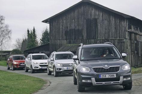 Vier kompkate SUVs im Vergleich