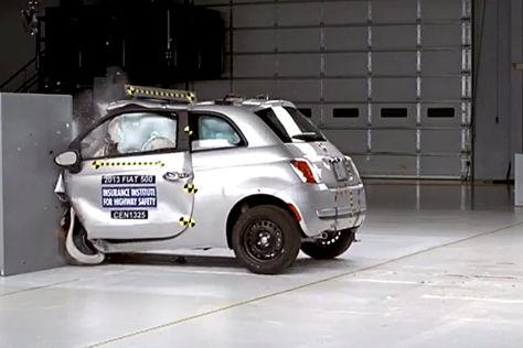 IIHS-Crashtest Fiat 500