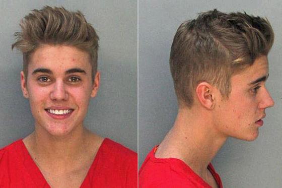 Polizeifotos Bieber