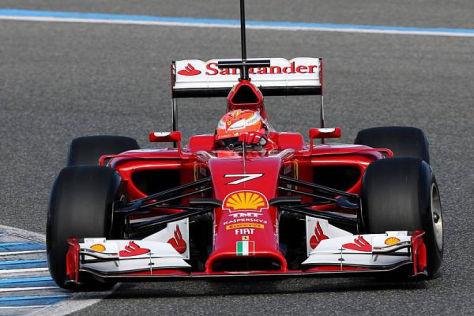 Kimi Räikkönen darf sich über die erste Bestzeit des neuen Jahres freuen
