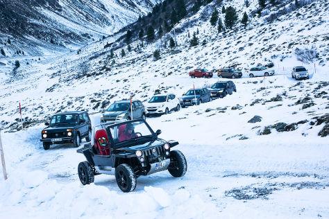 Zehn Allradler im Wintertest