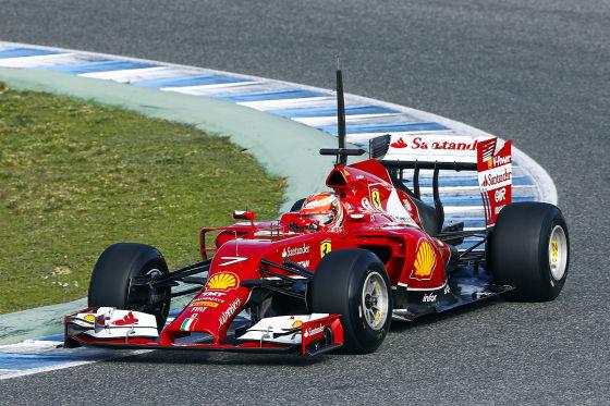 Kimi Räikkönen im Ferrari F14T