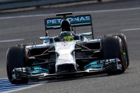 Der neue Mercedes F1 W05 lief am Mittwoch wie ein Uhrwerks