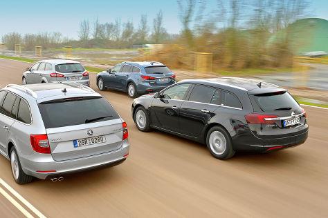 Insignia/Mazda6/Mondeo/Superb: Kombi-Test