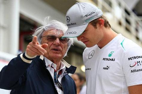 Ein Plausch mit dem neuen Weltmeister? Laut Bernie Ecclestone schon...