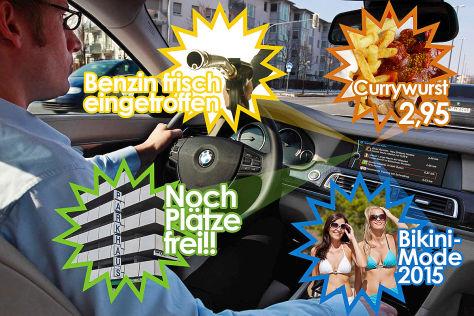 Montage: Werbung im Auto