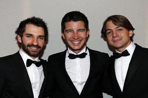 Timo Glock, Mike Rockenfeller und Augusto Farfus im feinsten Zwirn