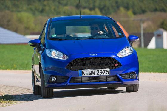 Ford Fiesta ST blau Frontansicht