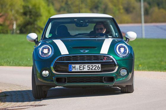 Mini Cooper S grün Frontansicht