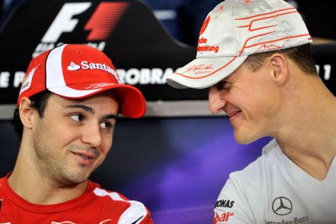 Felipe Massa leidet derzeit mit seinem Freund Schumacher mit