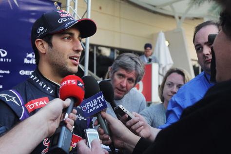 Daniel Ricciardo auf der Strecke: Ein seltenes Motiv für die Fotografen