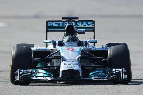 Rosberg setzte im Mercedes eine Zeit, an der sich die Konkurrenz die Zähne ausbiss
