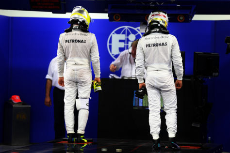 Nico Rosberg und Lewis Hamilton stehen offenbar in einem Diät-Wettstreit