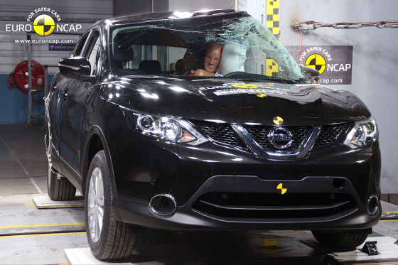 Euro NCAP Crashtest Februar 2014 Nissan Qashqai