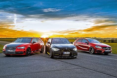 MTM Audi, Manhart BMW, McCho-DKR Mercedes: Vergleich