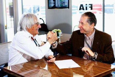 FIA-Boss Jean Todt (re.) sieht Bernie Ecclestones Prozess gelassen