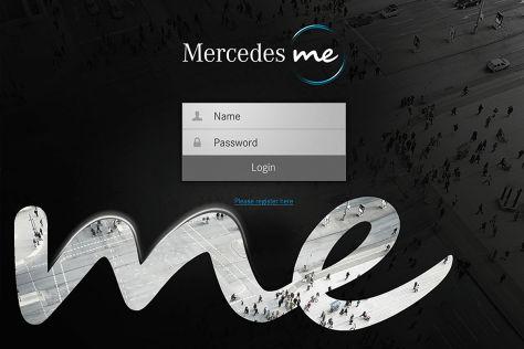 """""""Mercedes me"""" Einstiegsseite"""