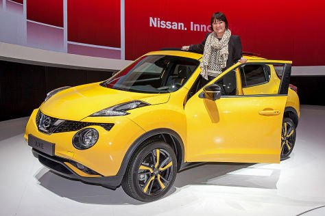 Nissan Juke Facelift: Sitzprobe auf dem Genfer Autosalon 2014