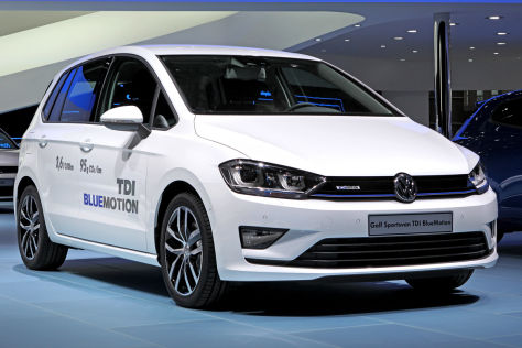 VW Golf Sportsvan TDI Bluemotion: Genfer Autosalon 2014
