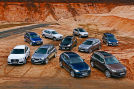 Audi Q3, Opel Mokka, Audi Q5, BMW X3, Ford Kuga, BMW X1, Hyundai ix35, Nissan Qashqai, Skoda Yeti
